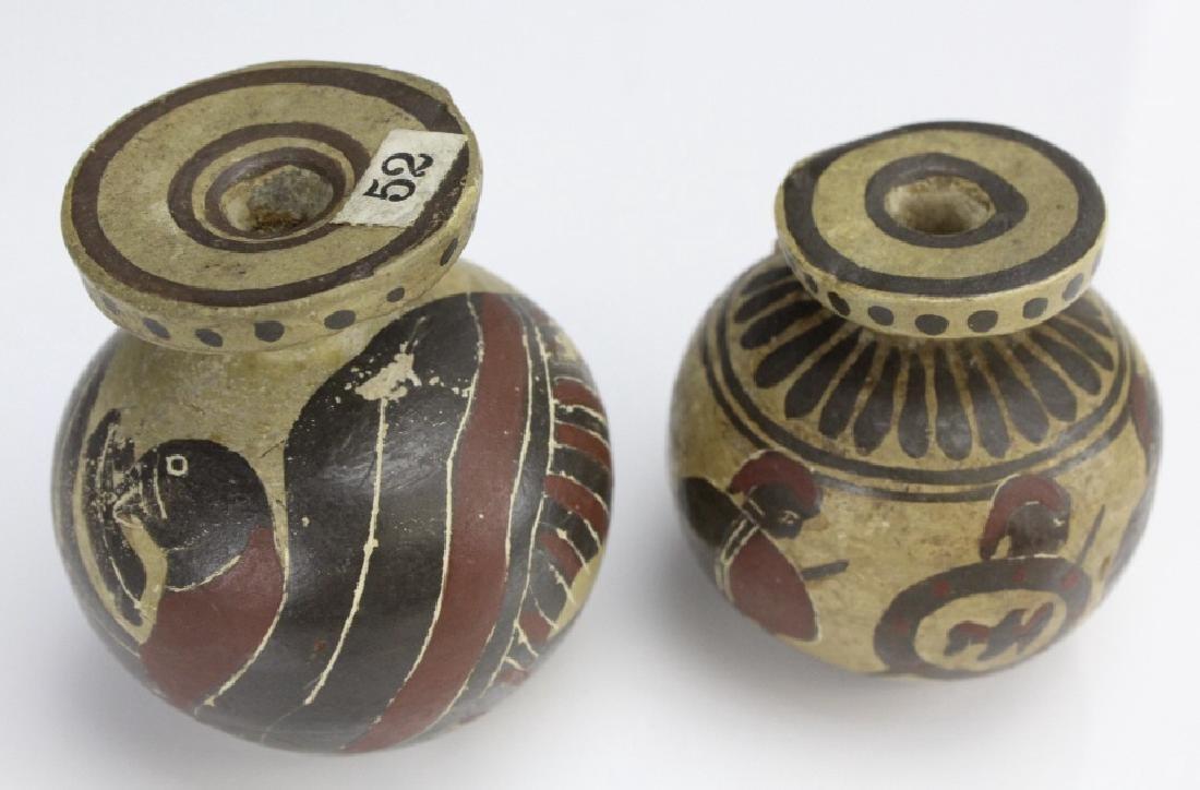 Two Ancient Corinthian Greek Aryballos w Figures - 5