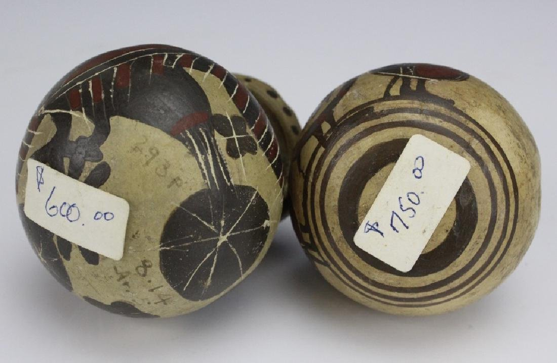 Two Ancient Corinthian Greek Aryballos w Figures - 6