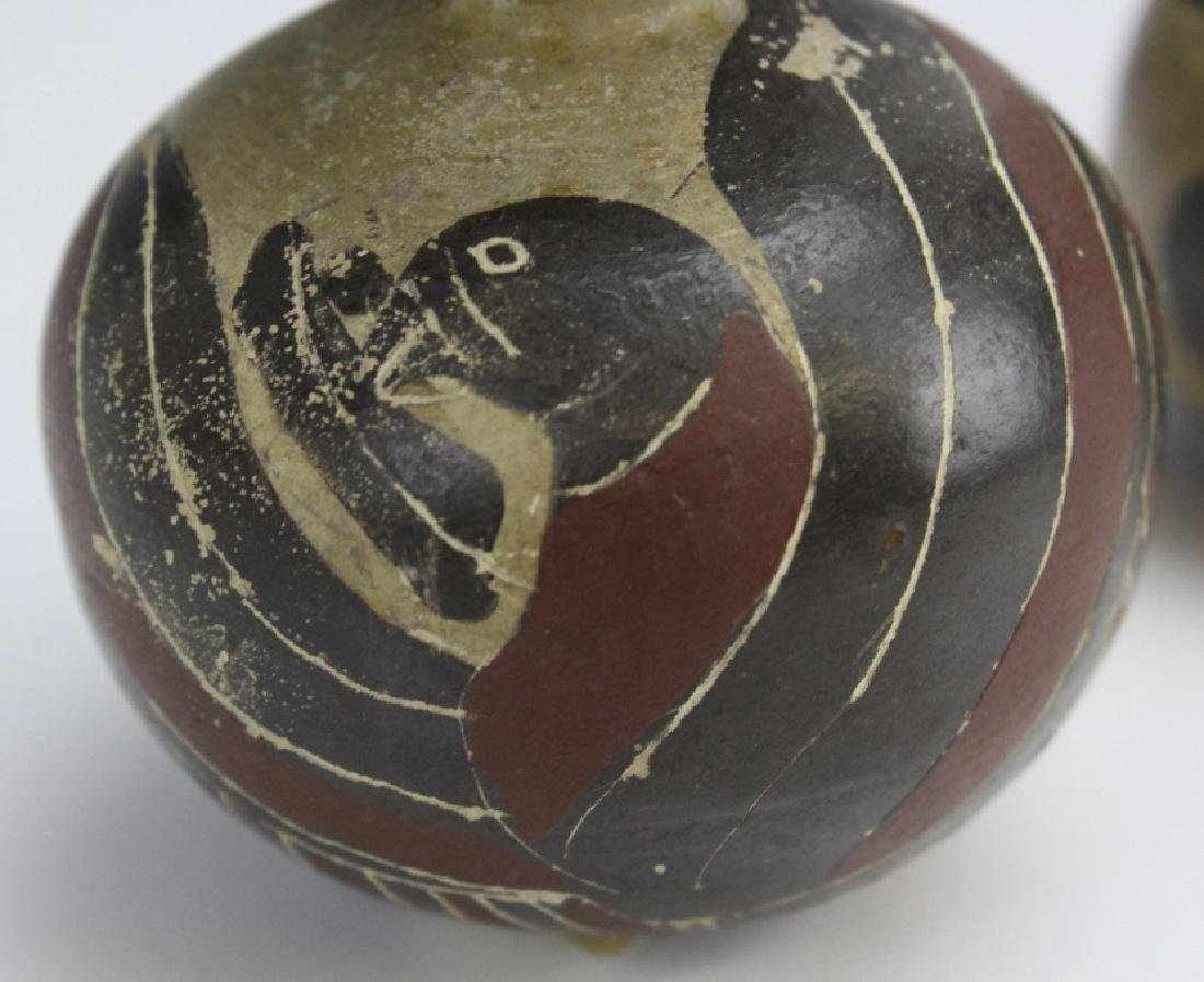 Two Ancient Corinthian Greek Aryballos w Figures - 8