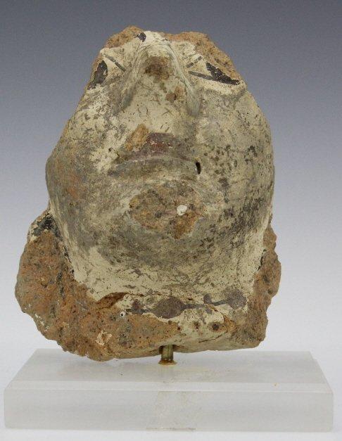 Ancient Etrsucan Terracotta Antefix Mask Fragment