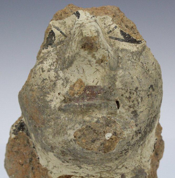 Ancient Etrsucan Terracotta Antefix Mask Fragment - 2