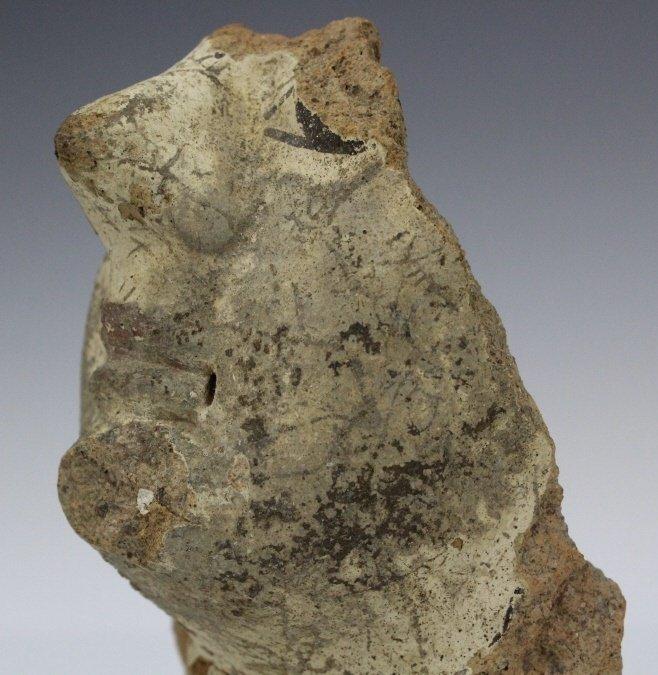 Ancient Etrsucan Terracotta Antefix Mask Fragment - 9