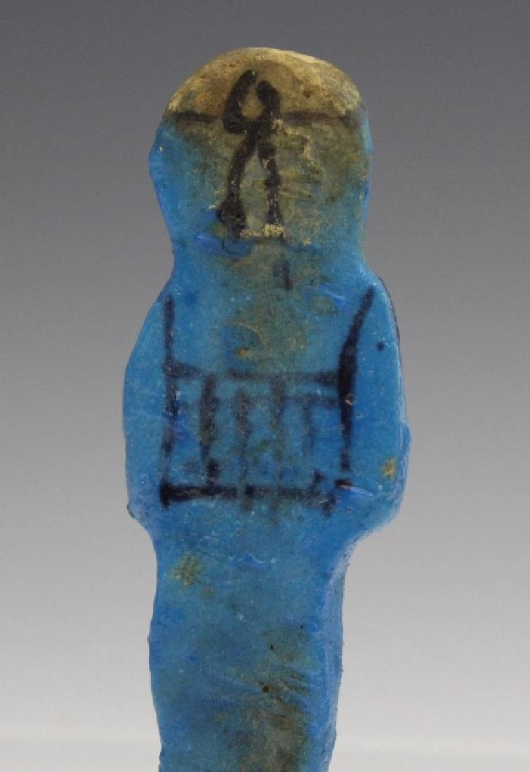 Ancient Egyptian Blue Faience Ushabti of Osiris - 3