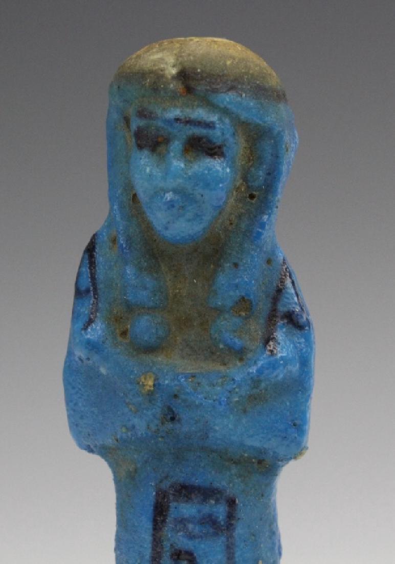 Ancient Egyptian Blue Faience Ushabti of Osiris - 5