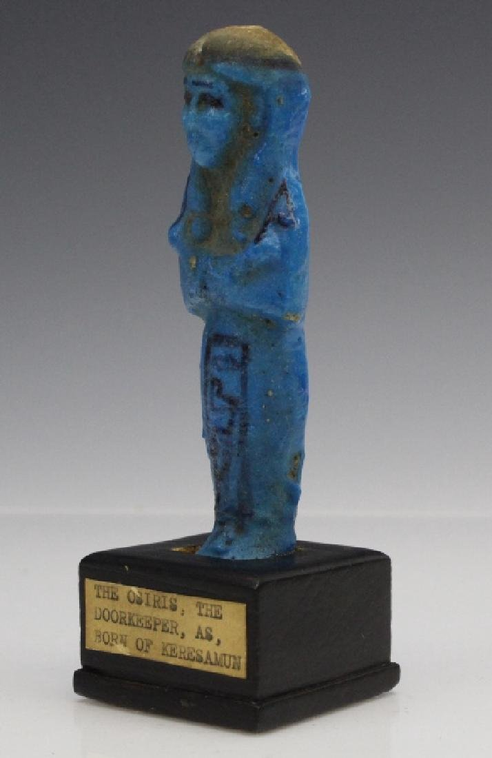 Ancient Egyptian Blue Faience Ushabti of Osiris - 9