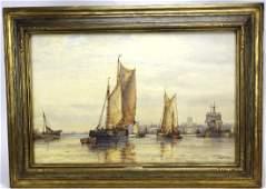 Frederick James Aldridge Ship Watercolor Painting