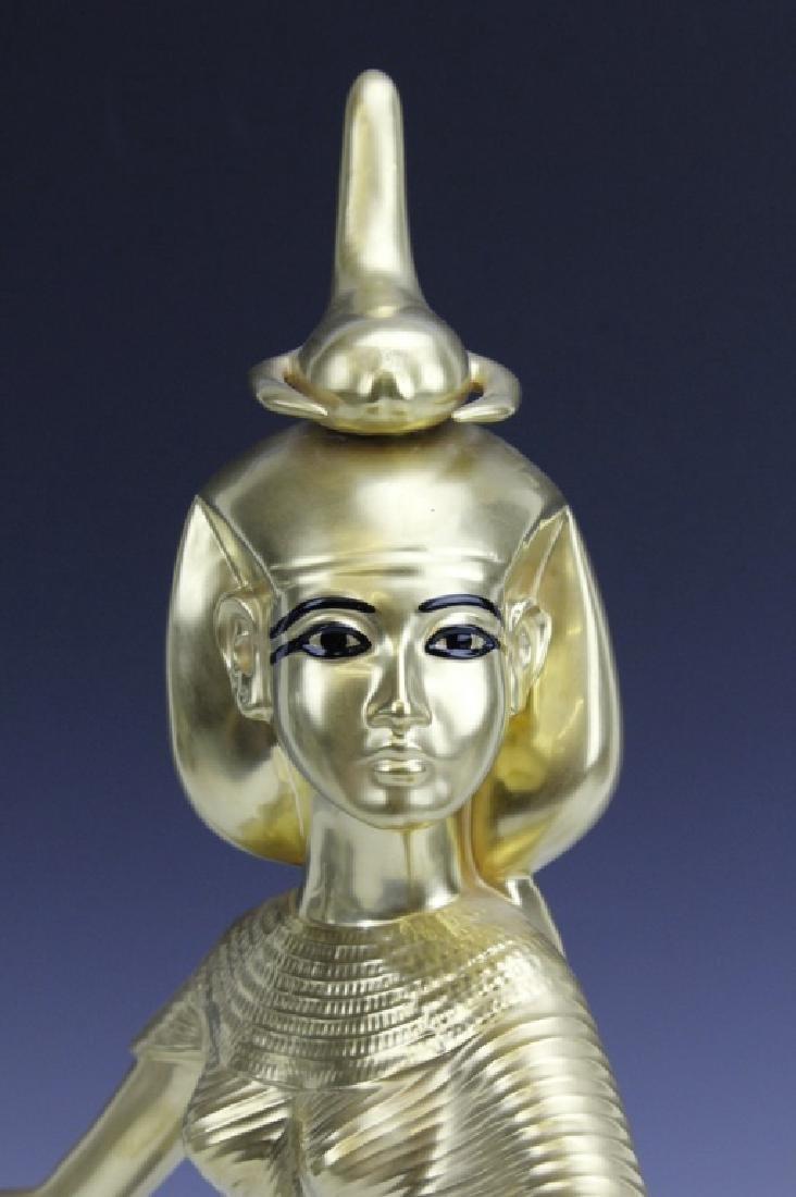 BOEHM Porcelain Egyptian Goddess Selkel Figurine - 6