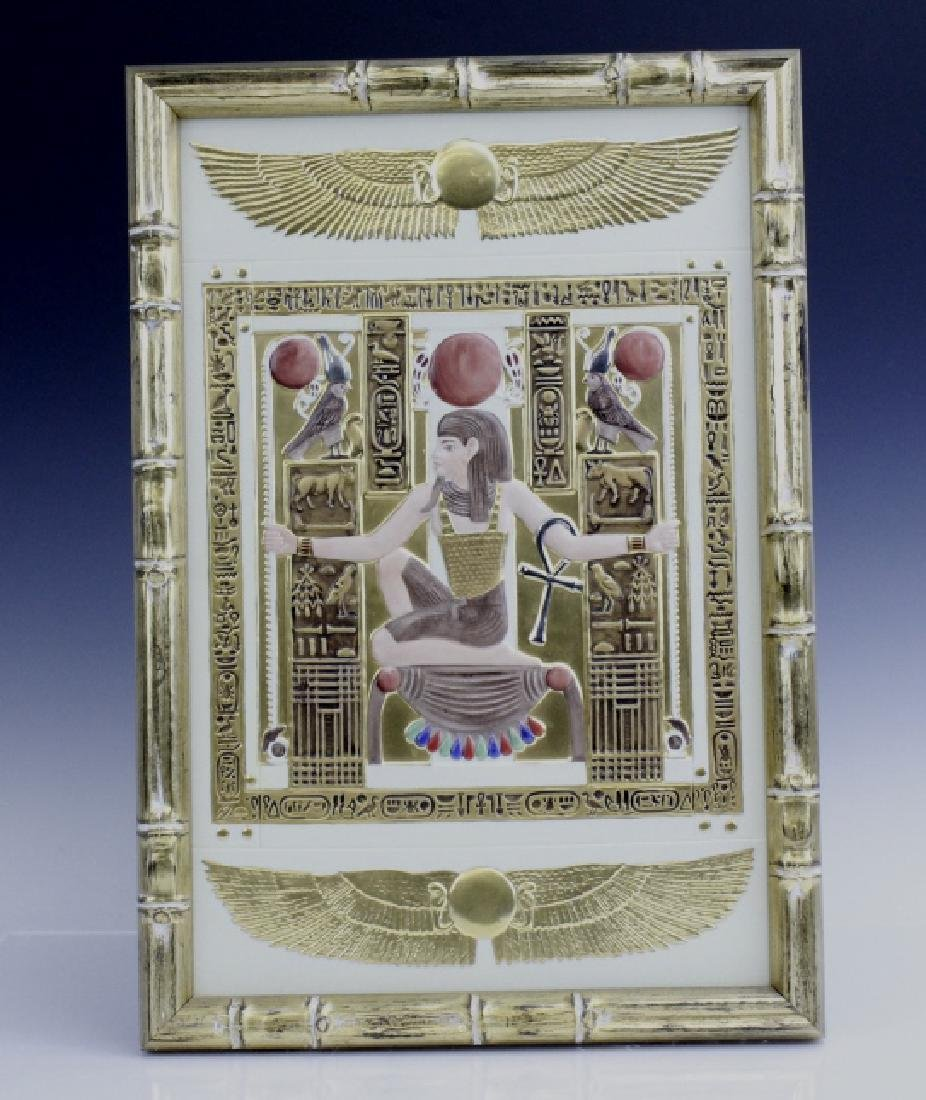 Boehm Gilt Porcelain Egyptian Chair Relief Plaque - 5