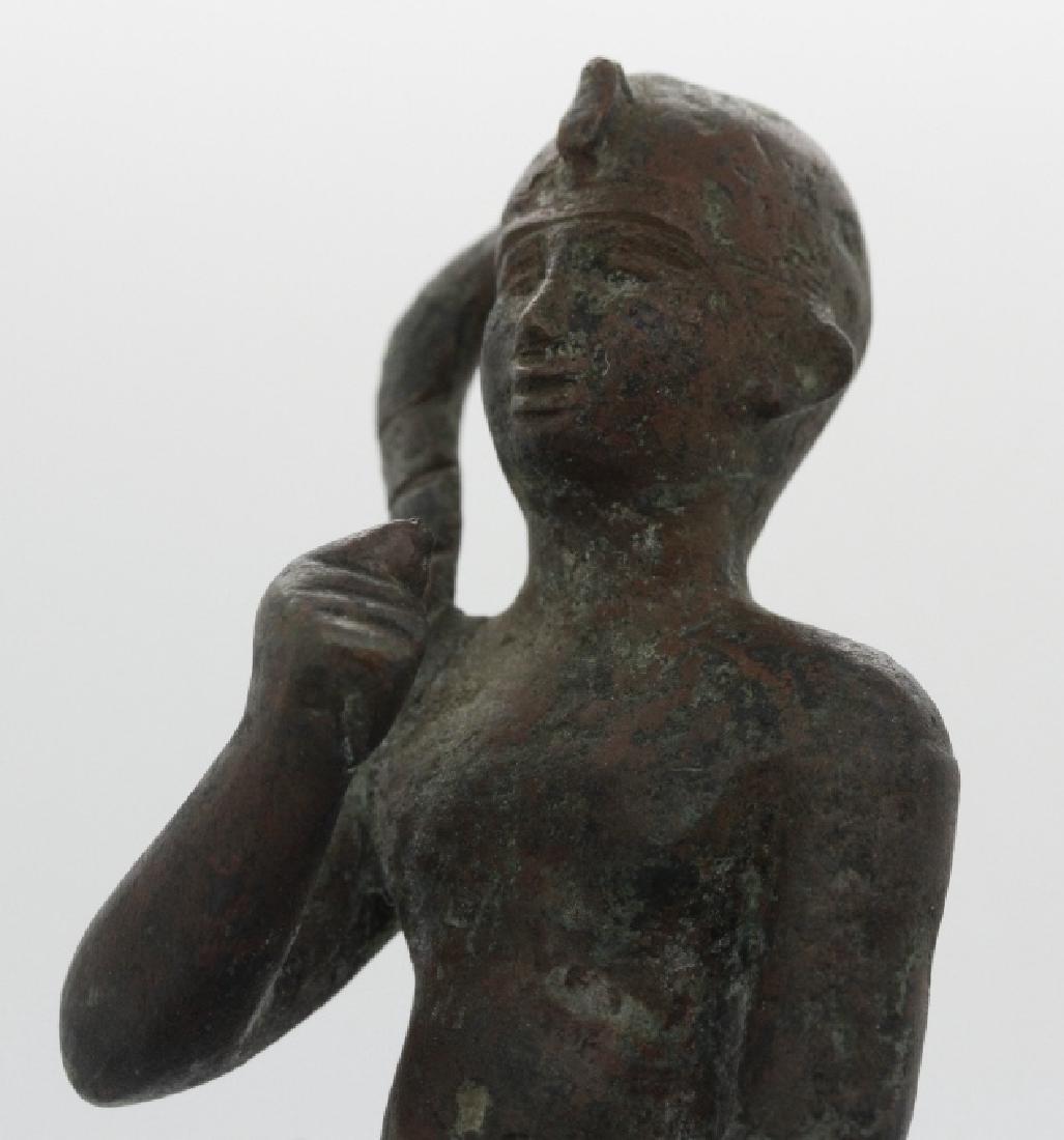 Late Period Egyptian Bronze Figure of Harpocrates - 5