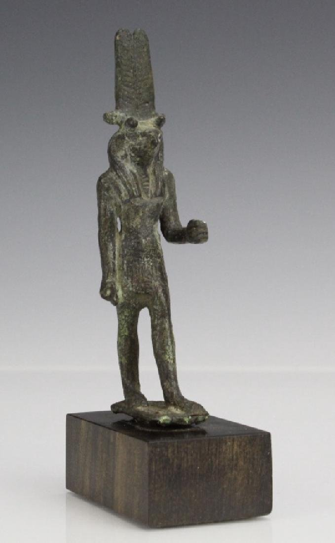 Ancient Egyptian Bronze Thoth Bird God Figure