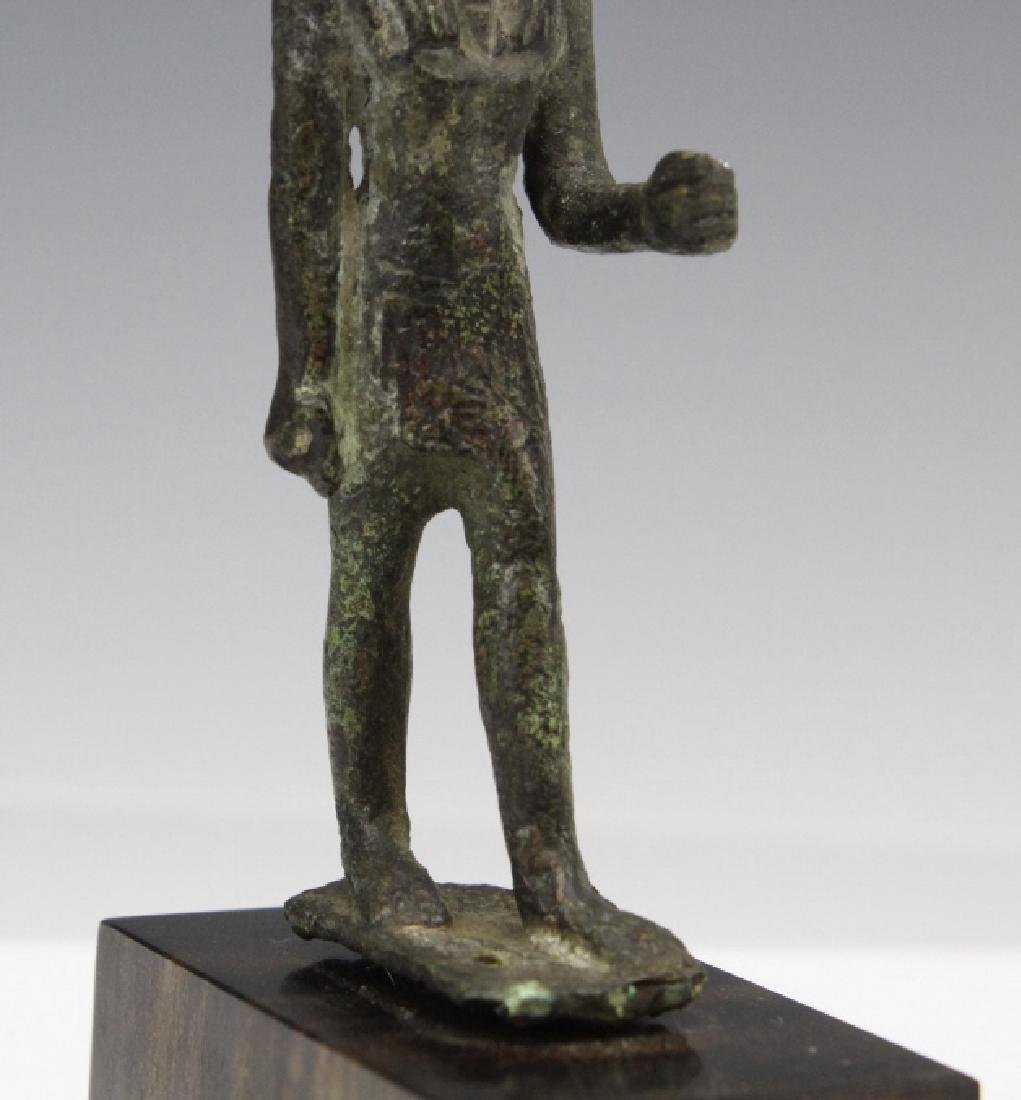 Ancient Egyptian Bronze Thoth Bird God Figure - 3