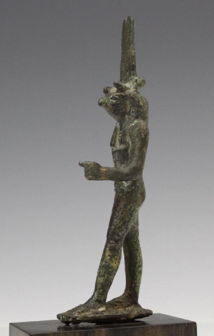 Ancient Egyptian Bronze Thoth Bird God Figure - 4