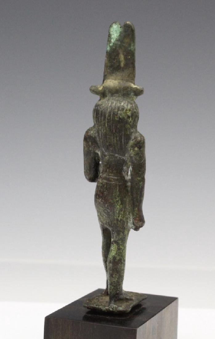 Ancient Egyptian Bronze Thoth Bird God Figure - 5