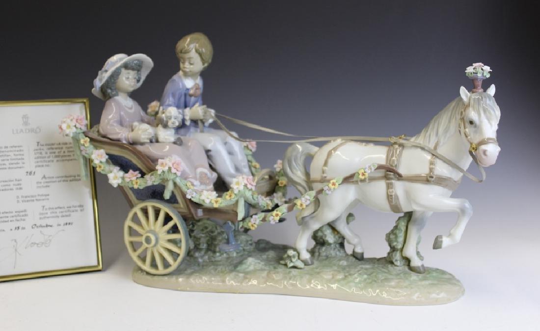 Lladro Spain Ride In The Park 5718 L/E Figurine