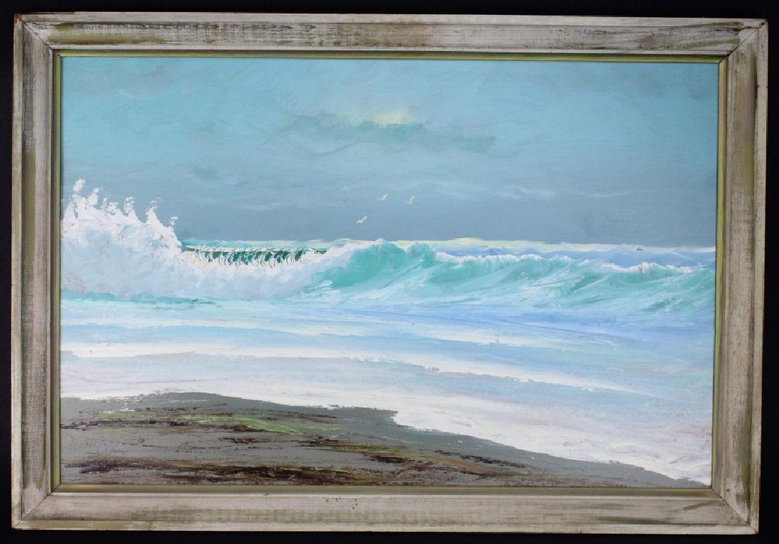 ALFRED HAIR Florida Highwaymen Seascape Painting