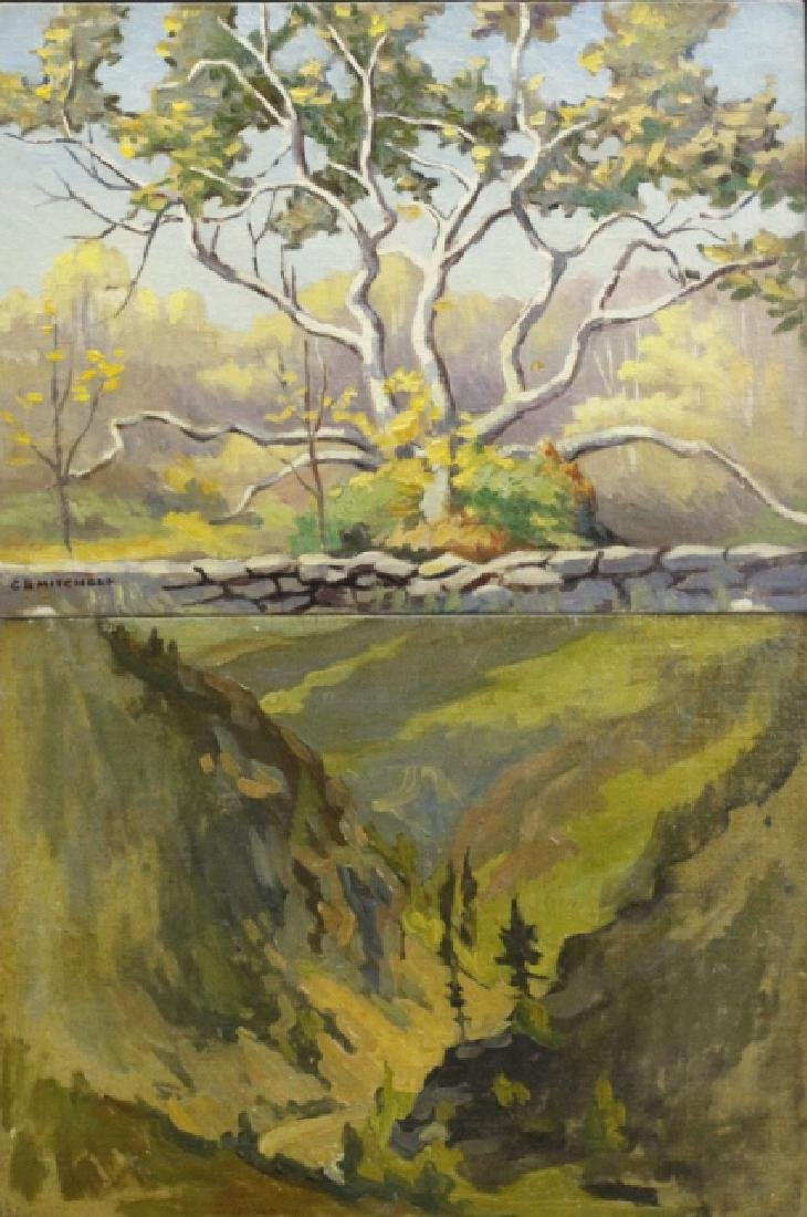 Pair GEORGE MITCHELL Landscape Oil Paintings
