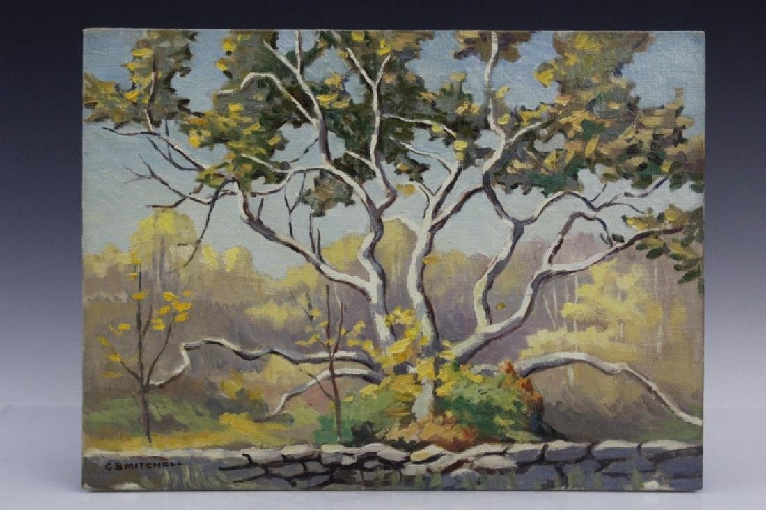 Pair GEORGE MITCHELL Landscape Oil Paintings - 2