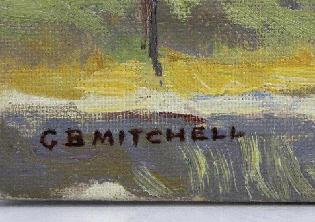 Pair GEORGE MITCHELL Landscape Oil Paintings - 3