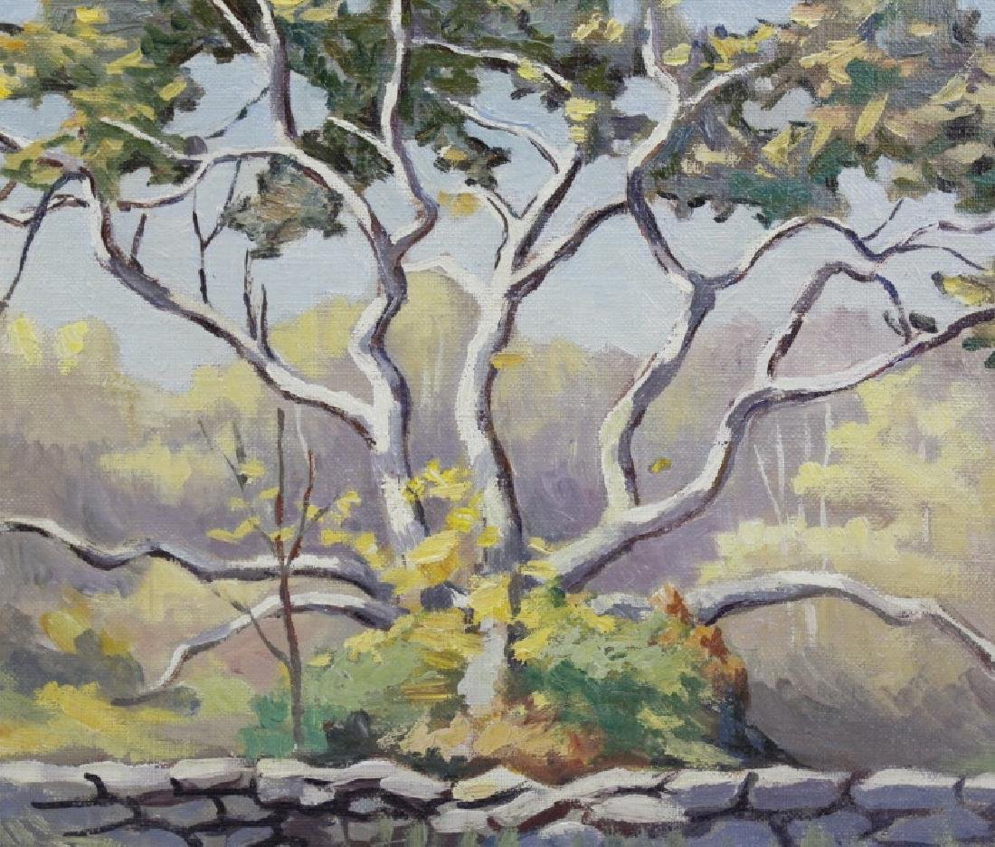 Pair GEORGE MITCHELL Landscape Oil Paintings - 4