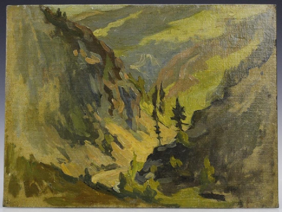 Pair GEORGE MITCHELL Landscape Oil Paintings - 5