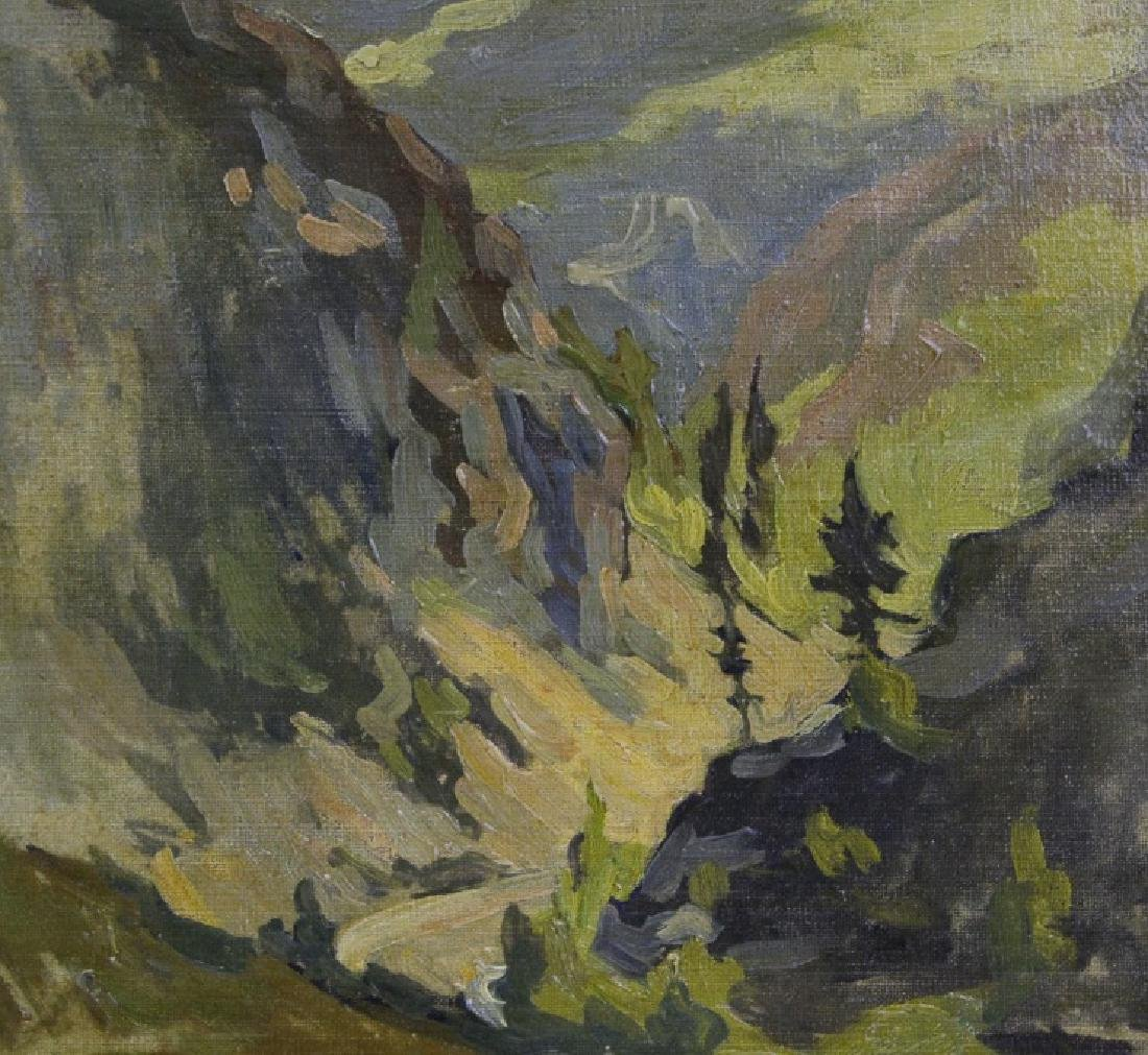 Pair GEORGE MITCHELL Landscape Oil Paintings - 6