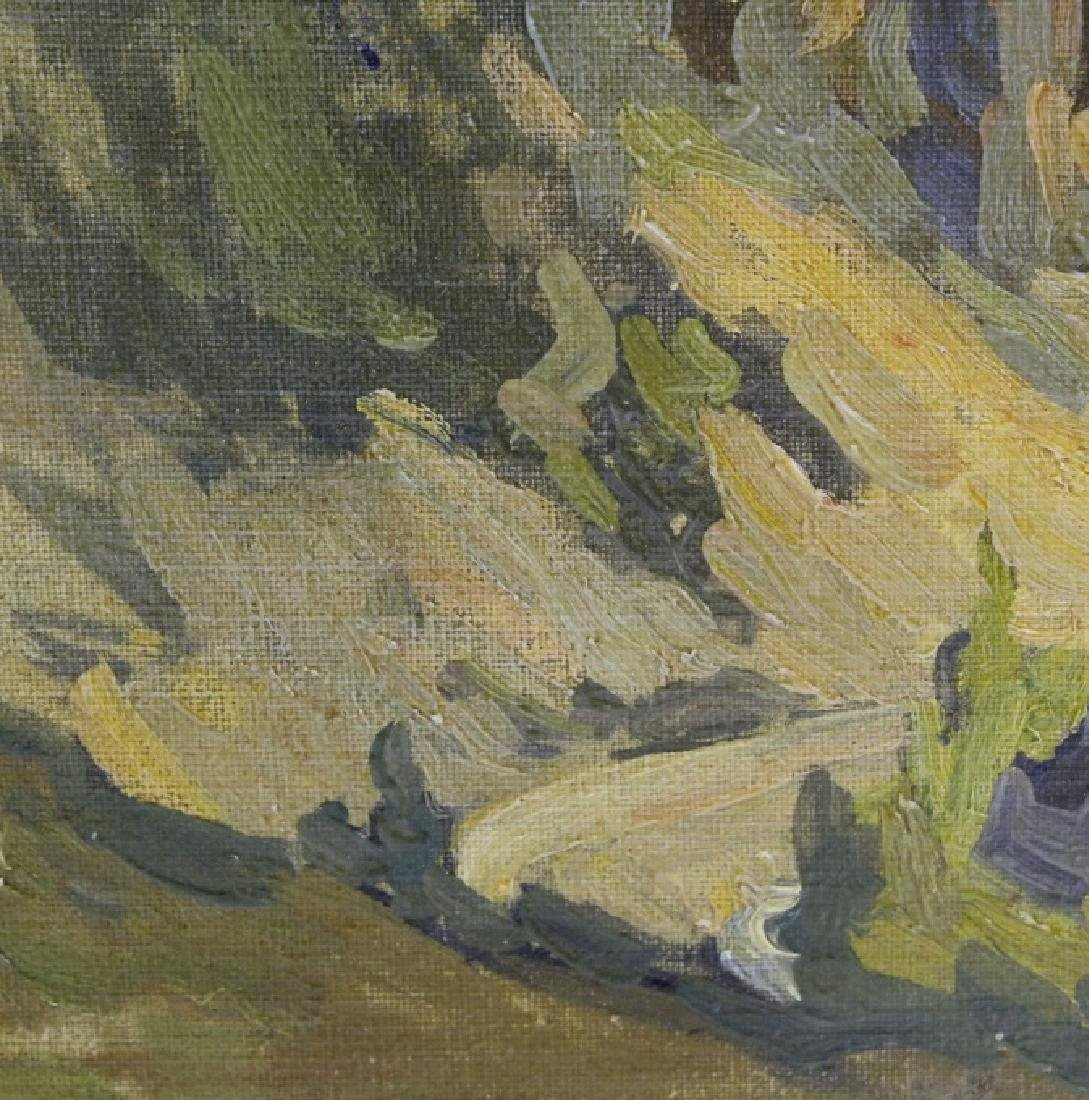 Pair GEORGE MITCHELL Landscape Oil Paintings - 7