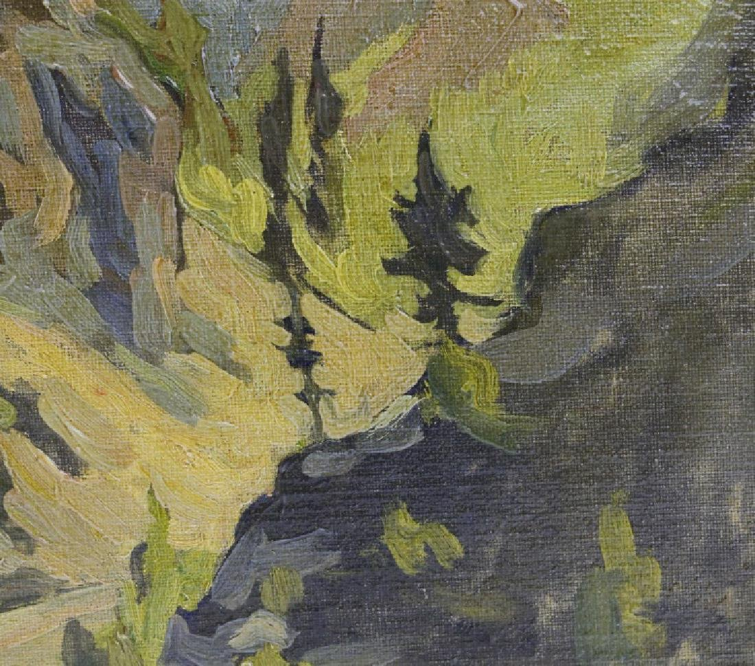 Pair GEORGE MITCHELL Landscape Oil Paintings - 8