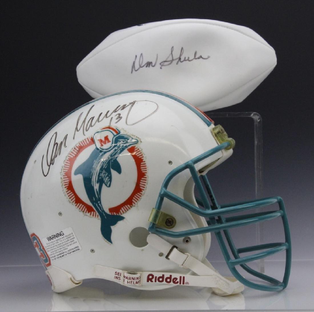 Signed Marino Shula Miami Dolphins Helmet Football