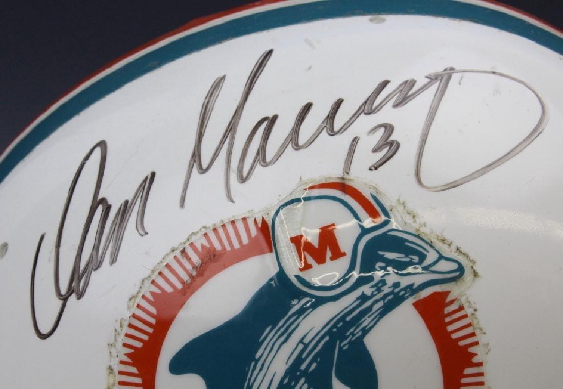 Signed Marino Shula Miami Dolphins Helmet Football - 3
