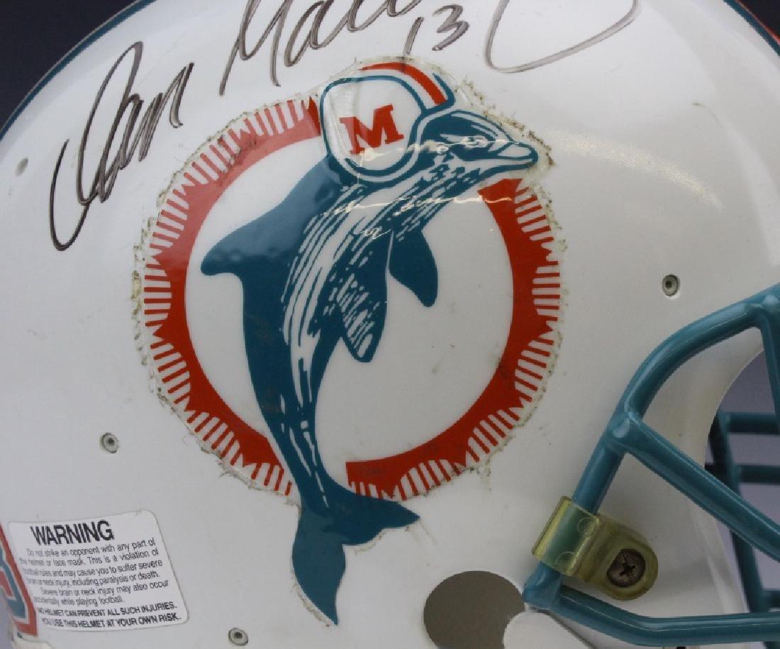 Signed Marino Shula Miami Dolphins Helmet Football - 4