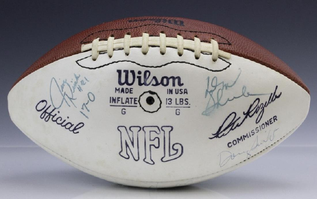 17-0 Team Signed 1972 Miami Dolphins Football