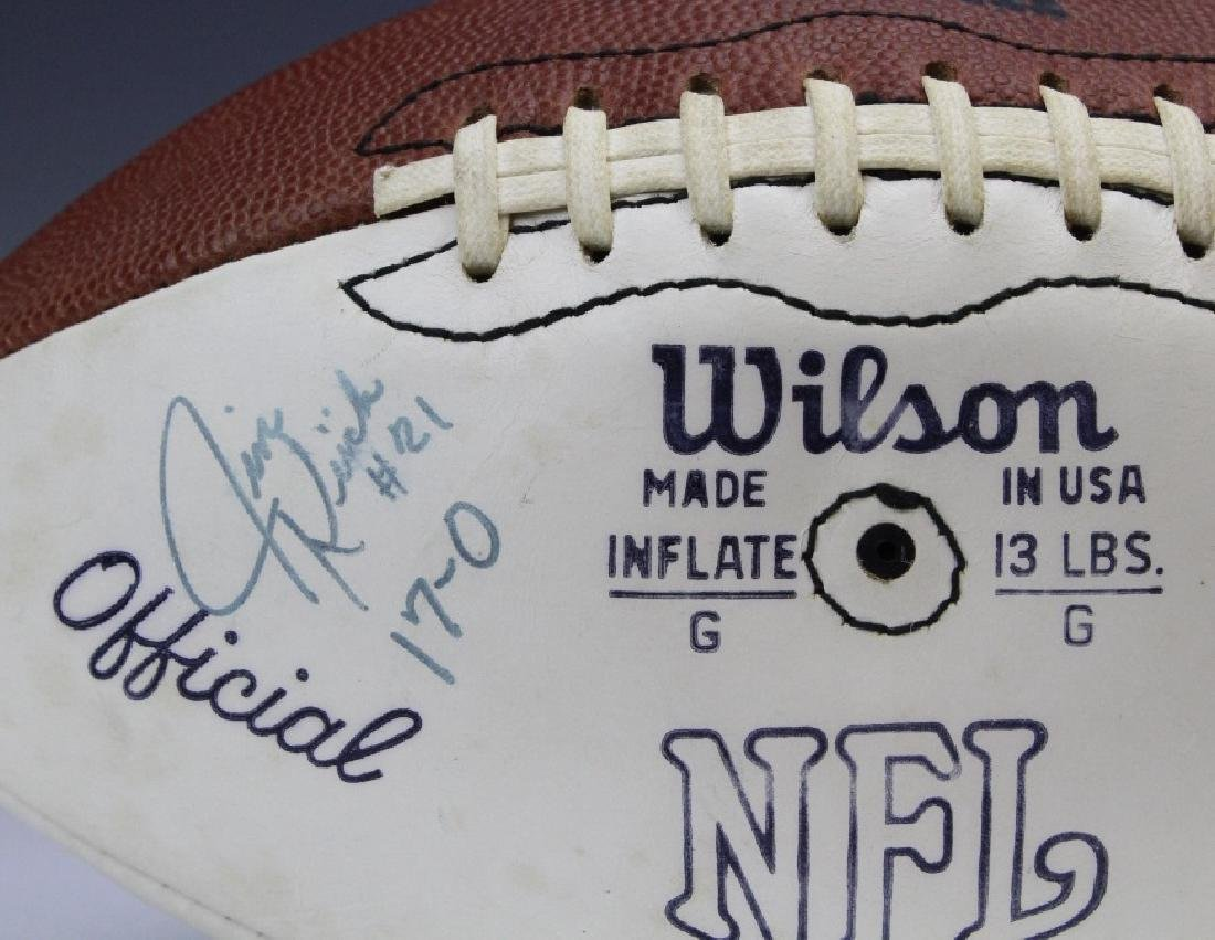 17-0 Team Signed 1972 Miami Dolphins Football - 2