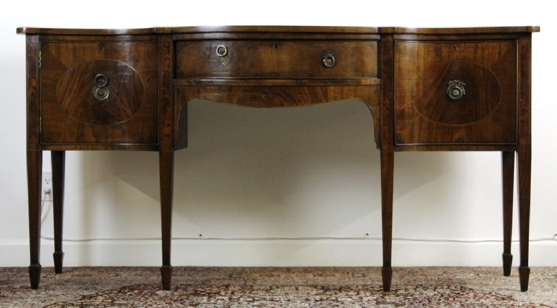 English 18c George III Mahogany Sideboard Cabinet