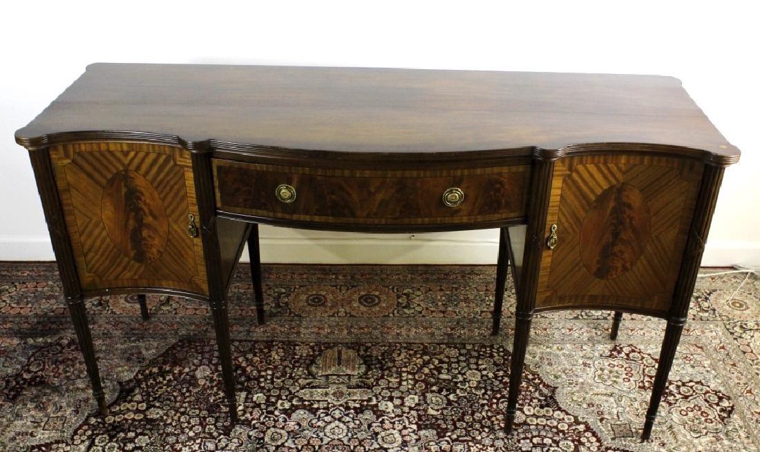English Custom Mahogany Sheraton Style Sideboard - 2