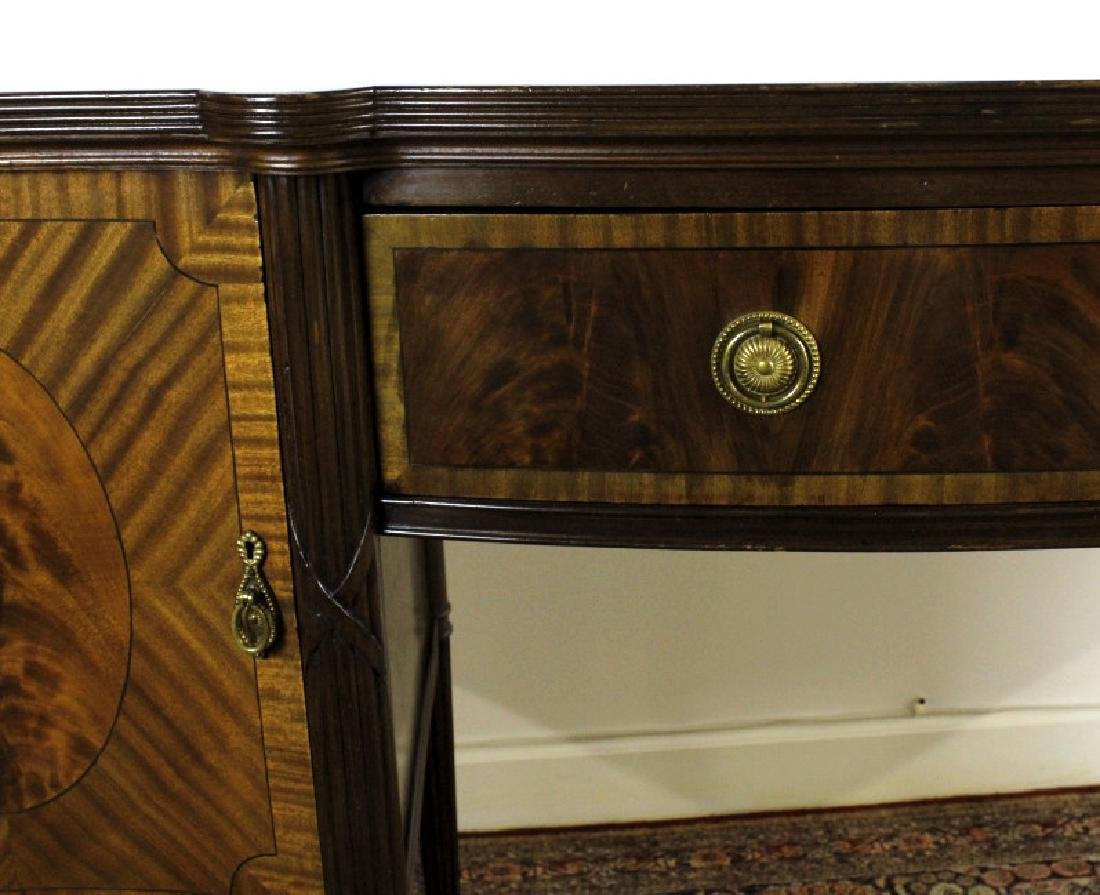 English Custom Mahogany Sheraton Style Sideboard - 3
