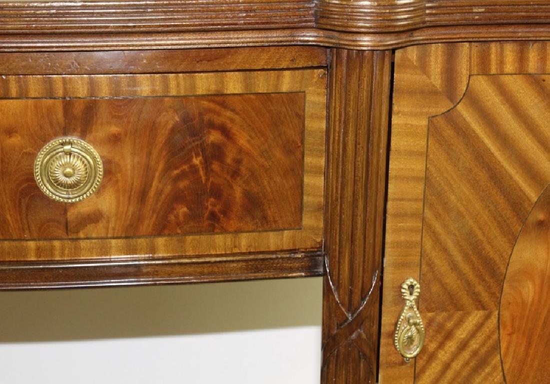 English Custom Mahogany Sheraton Style Sideboard - 4