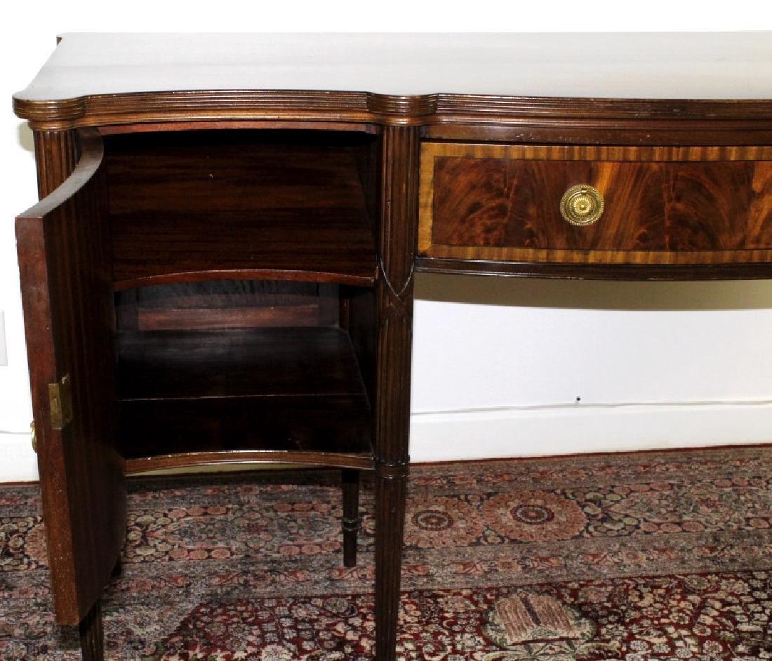 English Custom Mahogany Sheraton Style Sideboard - 7