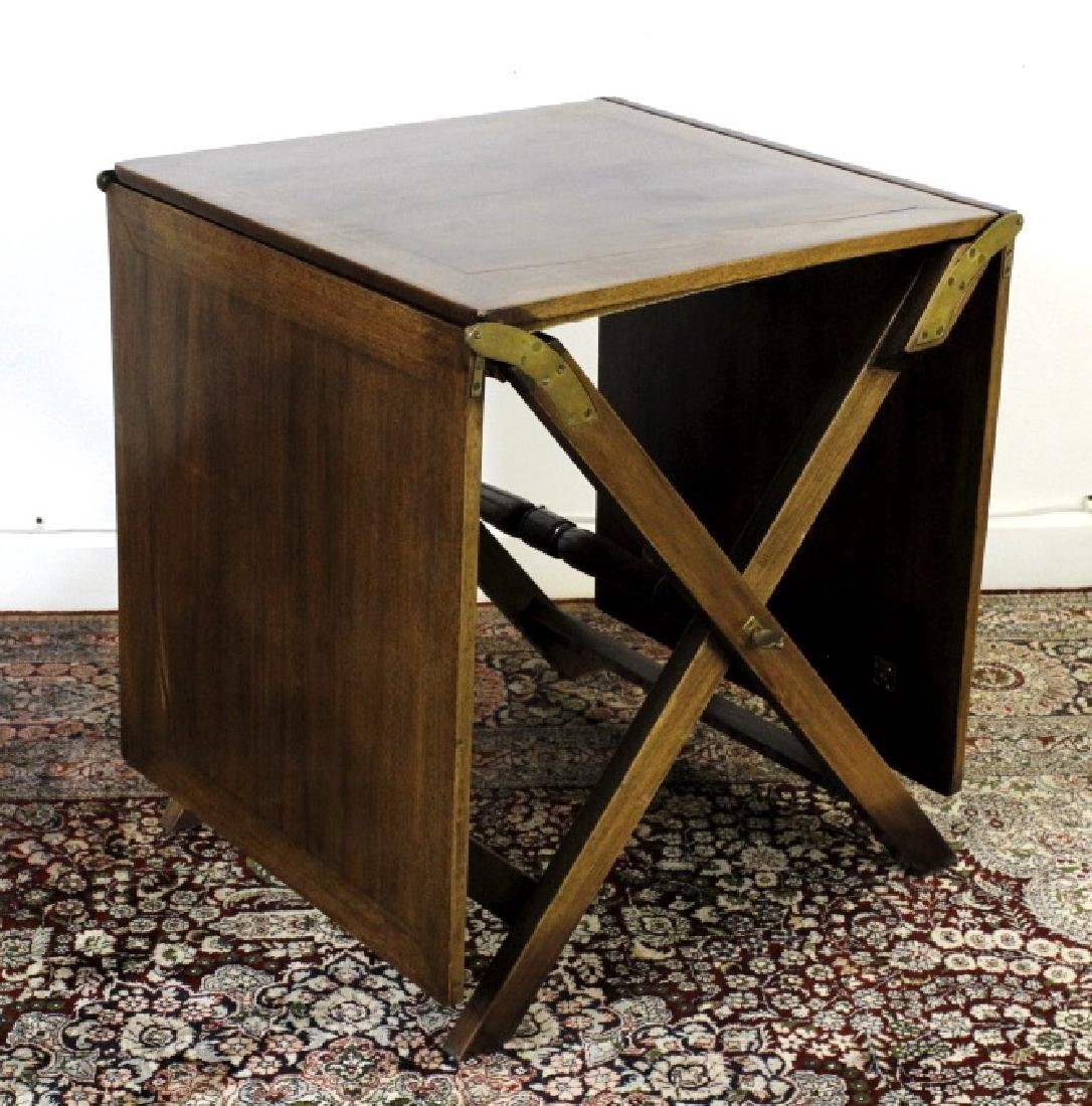 Antique 19c English Campaign Traveling Table - 2