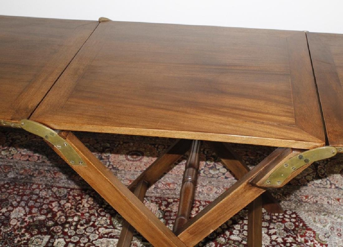 Antique 19c English Campaign Traveling Table - 4