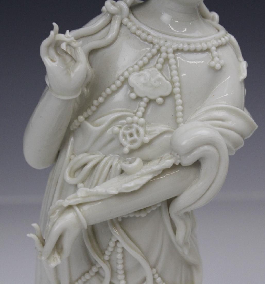 Pair Blanc de Chine Ho Chao Tsung Guanyin Figures - 8