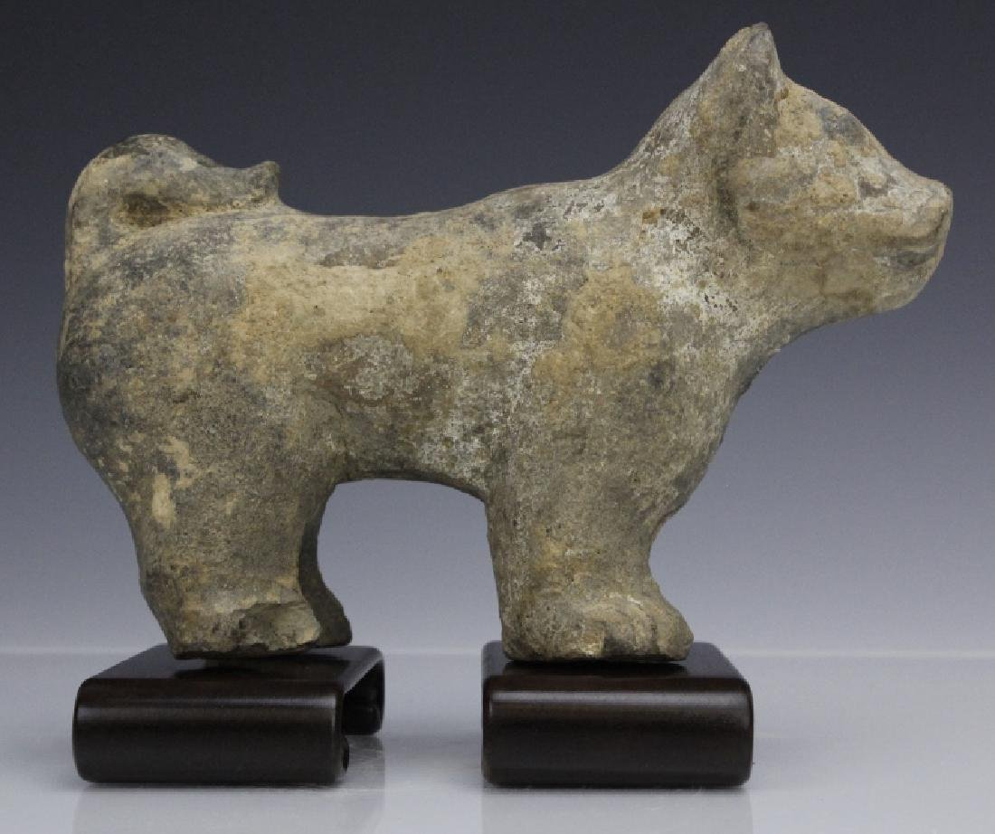 Han Dynasty Terra Cotta Dog Form Tomb Figure - 2