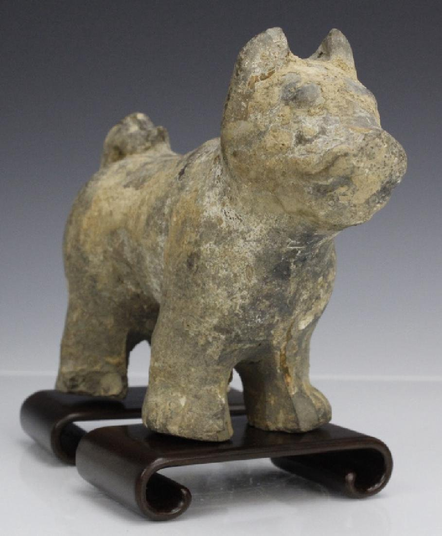 Han Dynasty Terra Cotta Dog Form Tomb Figure - 3