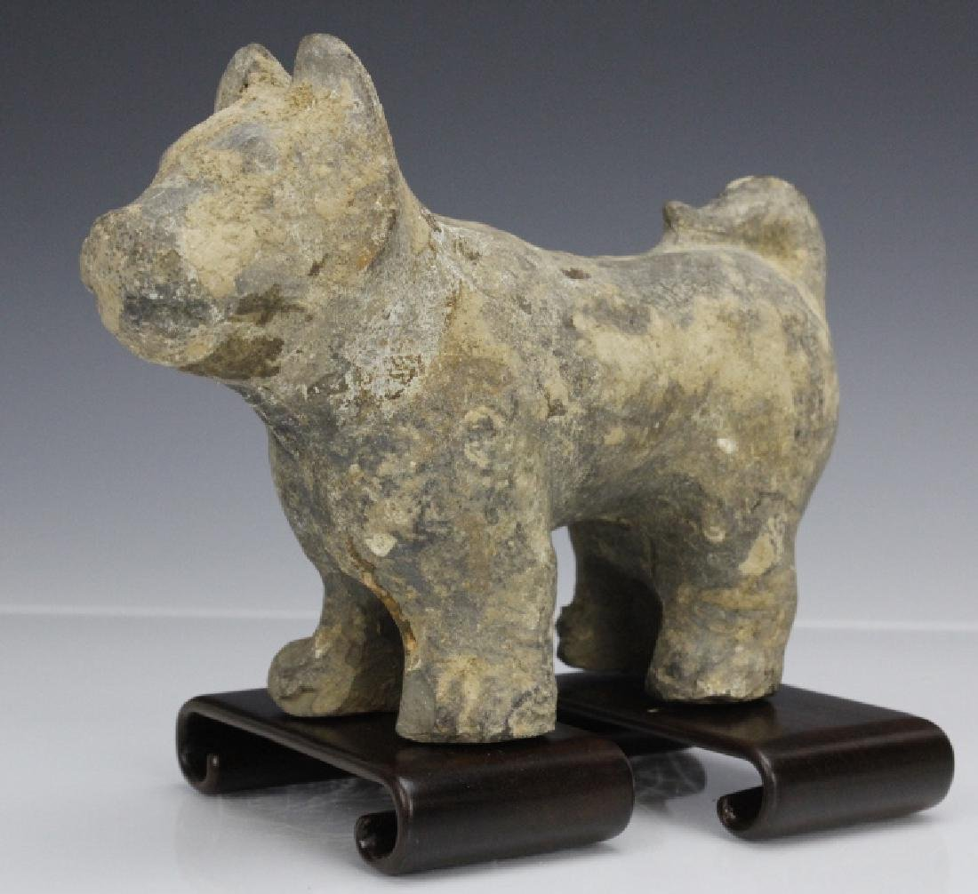 Han Dynasty Terra Cotta Dog Form Tomb Figure - 6