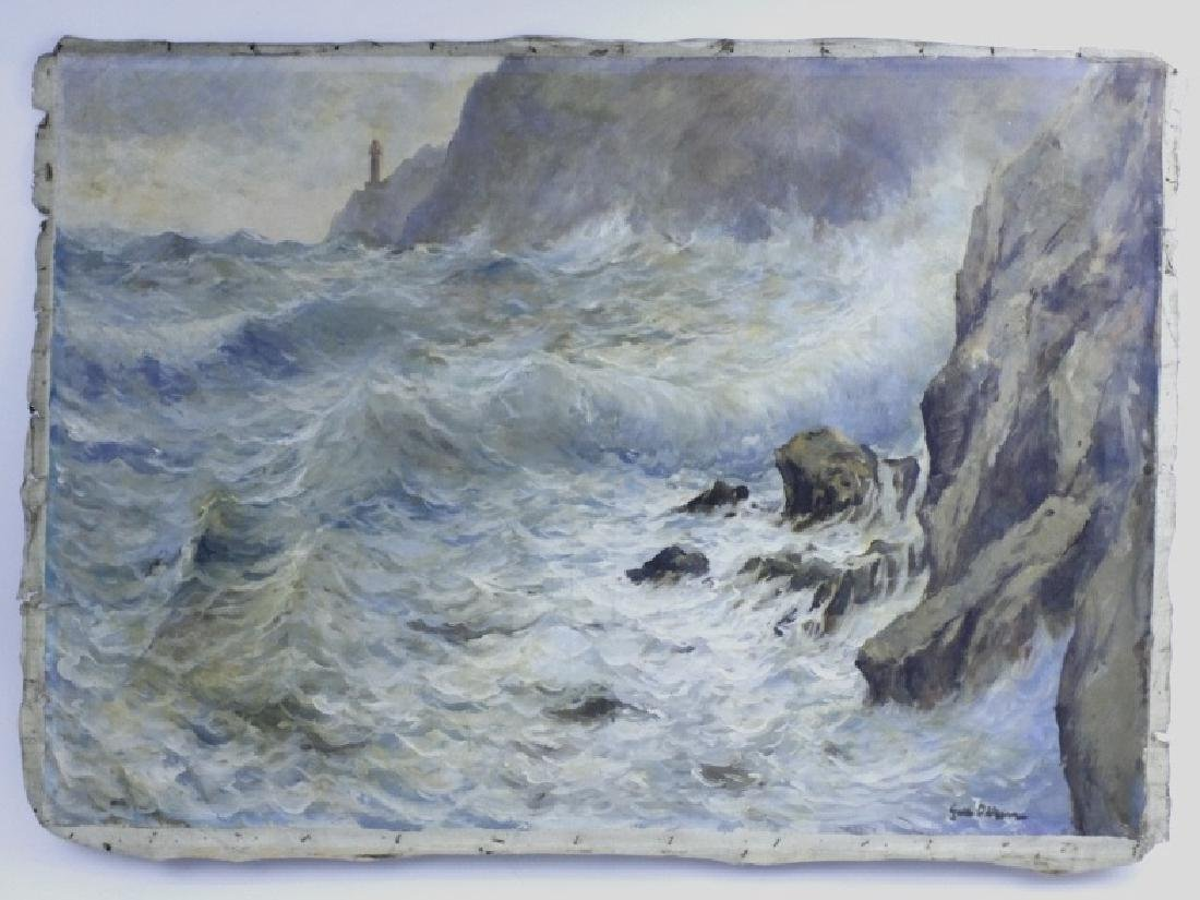 GUIDO ODIERNA Italian Seascape Oil Painting