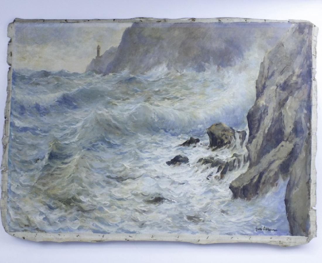 GUIDO ODIERNA Italian Seascape Oil Painting - 3