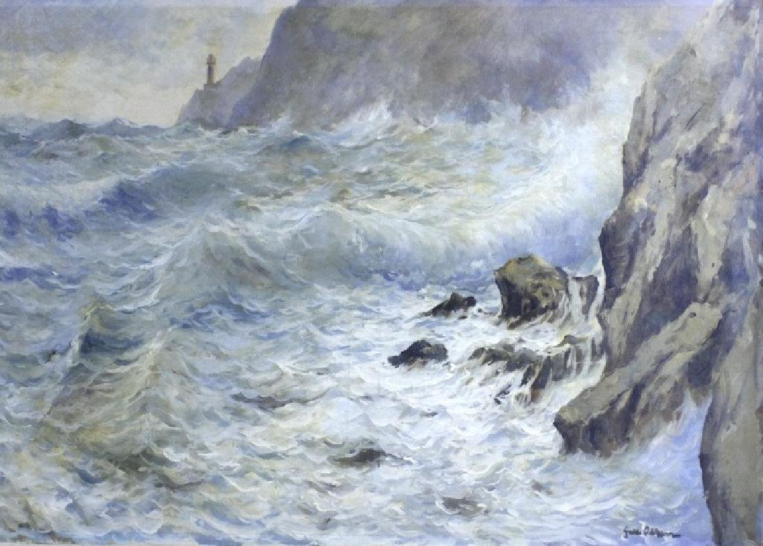 GUIDO ODIERNA Italian Seascape Oil Painting - 5