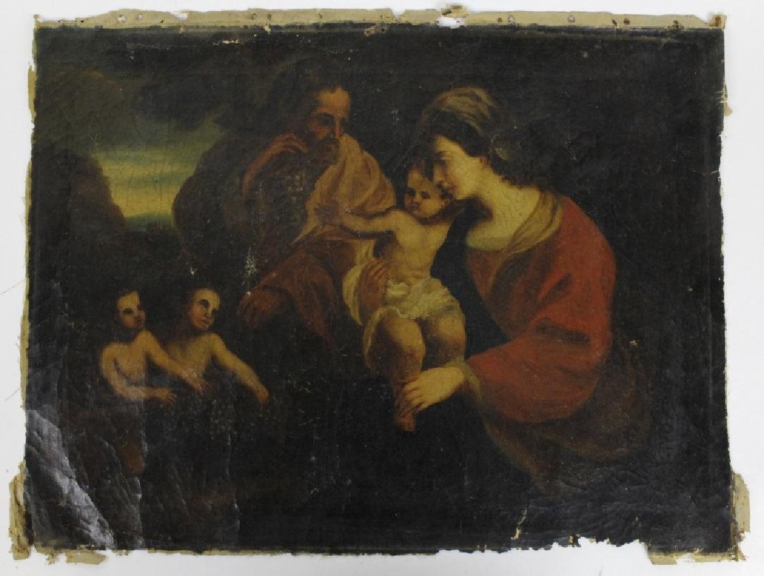 Antique Old Master Style Religious Oil Painting