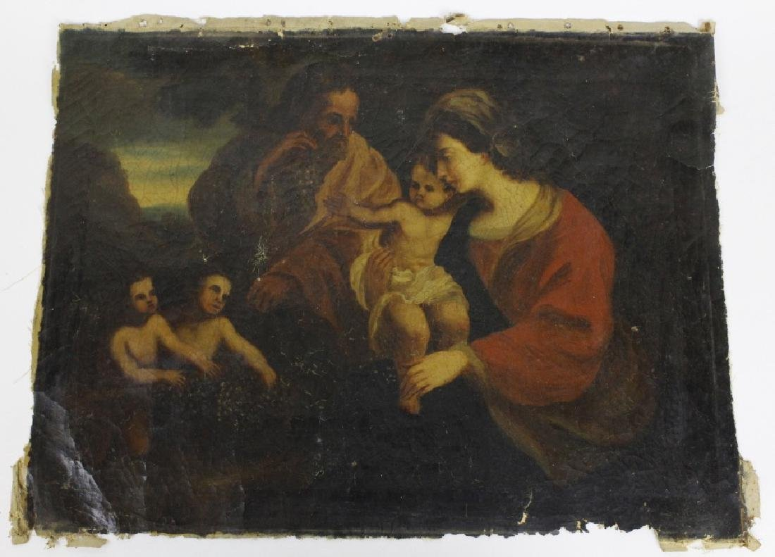 Antique Old Master Style Religious Oil Painting - 6