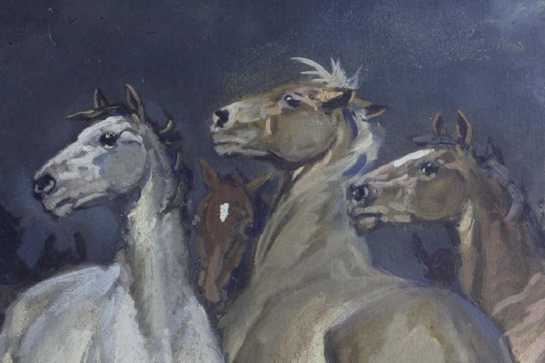 JEAN VISKI Wild Horses Western Landscape Painting - 4