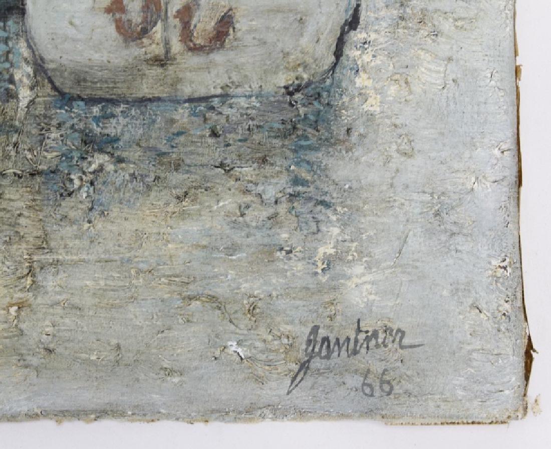 Bernard Gantner Marina Boats Seascape Oil Painting - 3